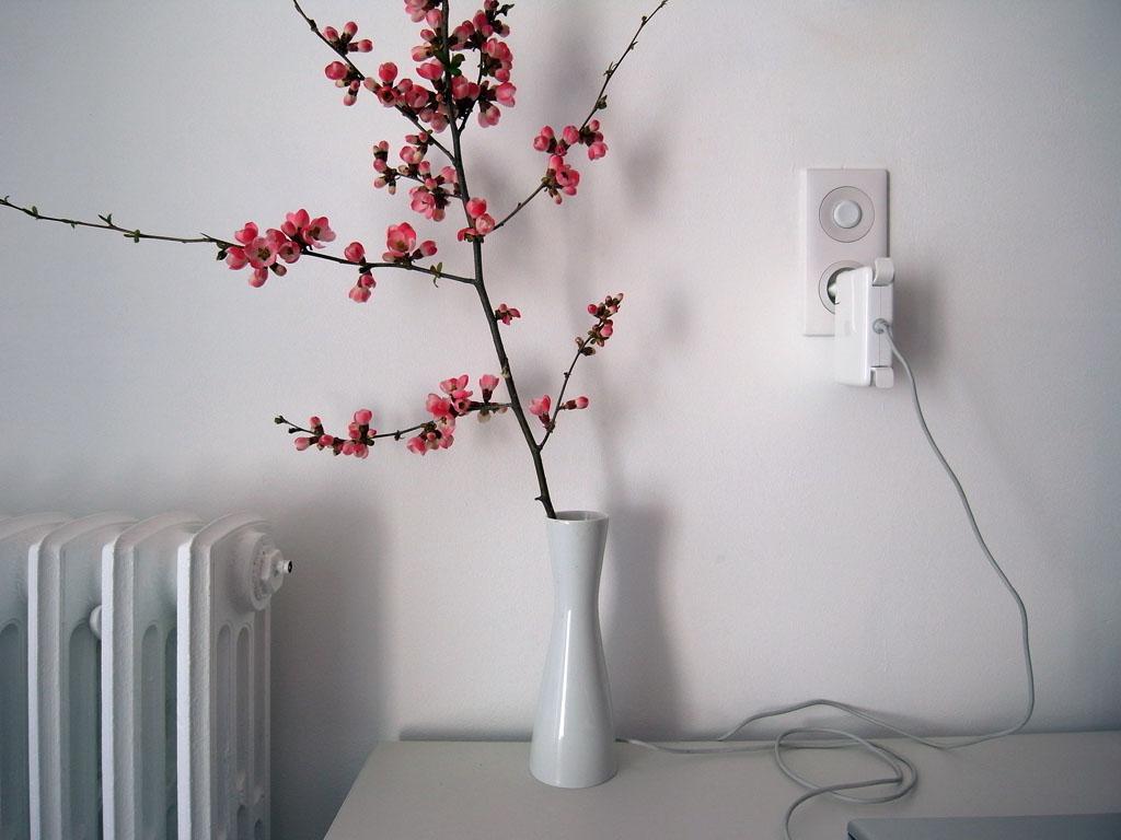 vase avec branche lumiere chez fleur decoration de. Black Bedroom Furniture Sets. Home Design Ideas