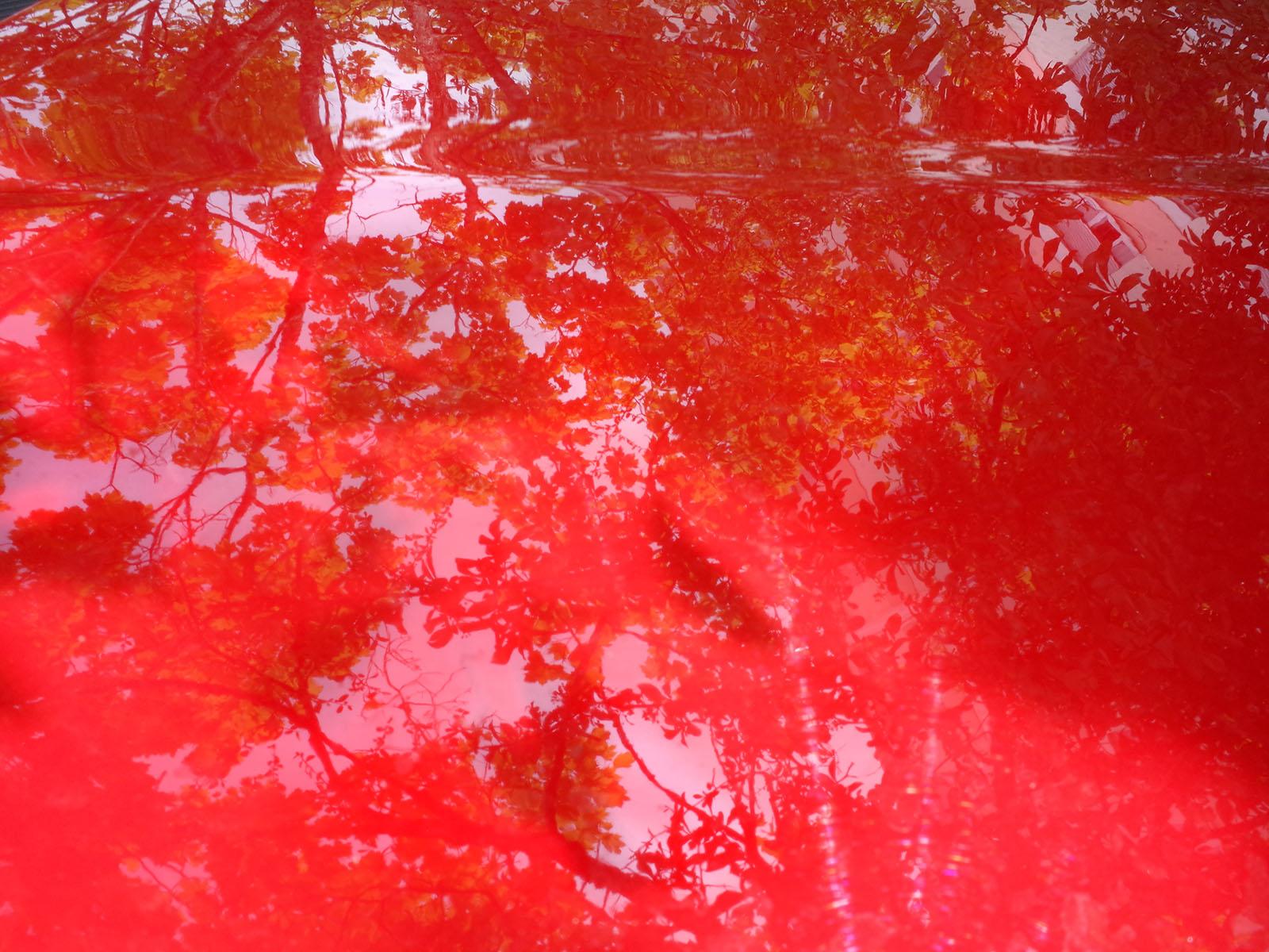 auto reflet rouge