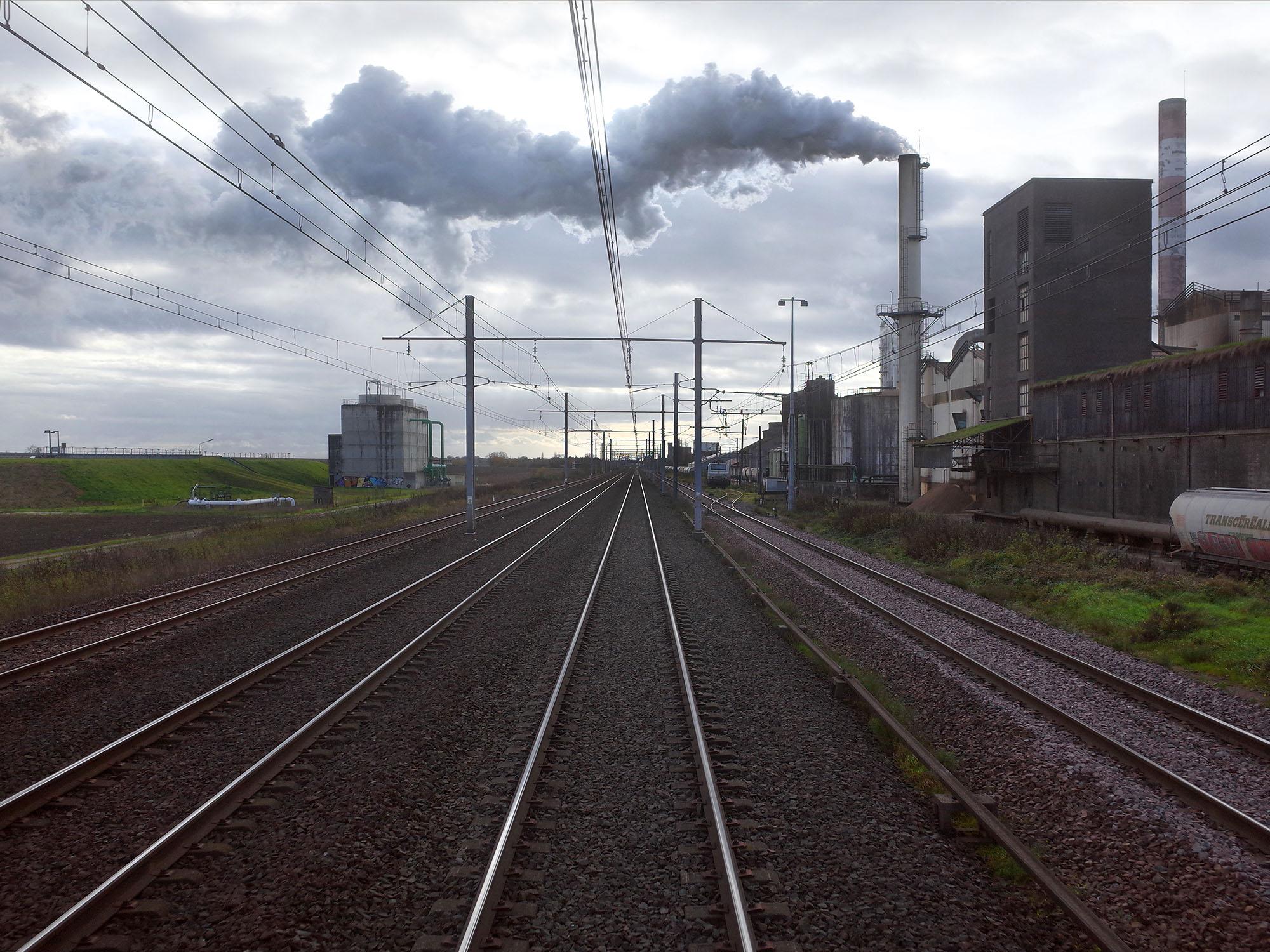 rails fumee