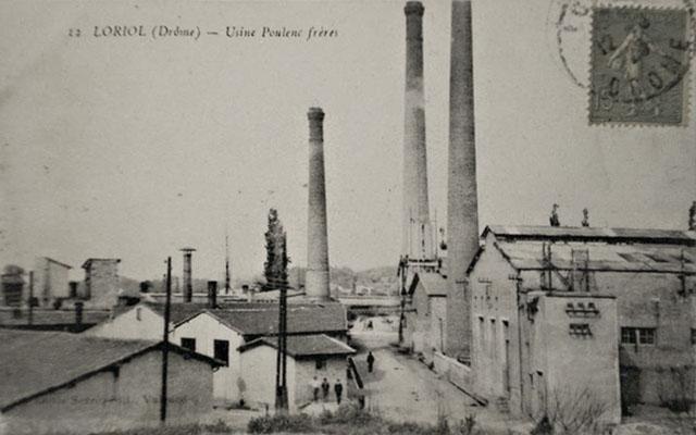 loriol usine poulenc carte