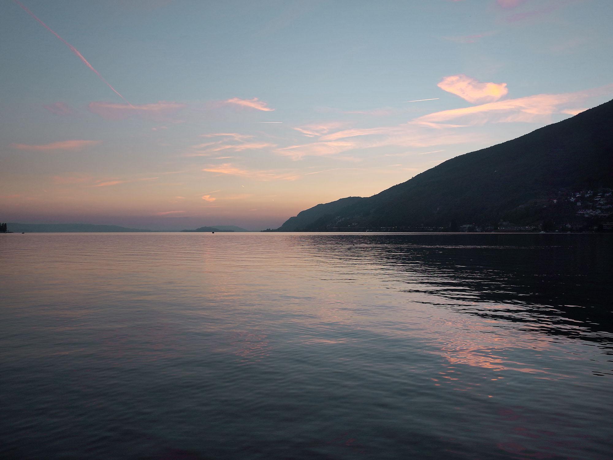 bienne lac soir 2014