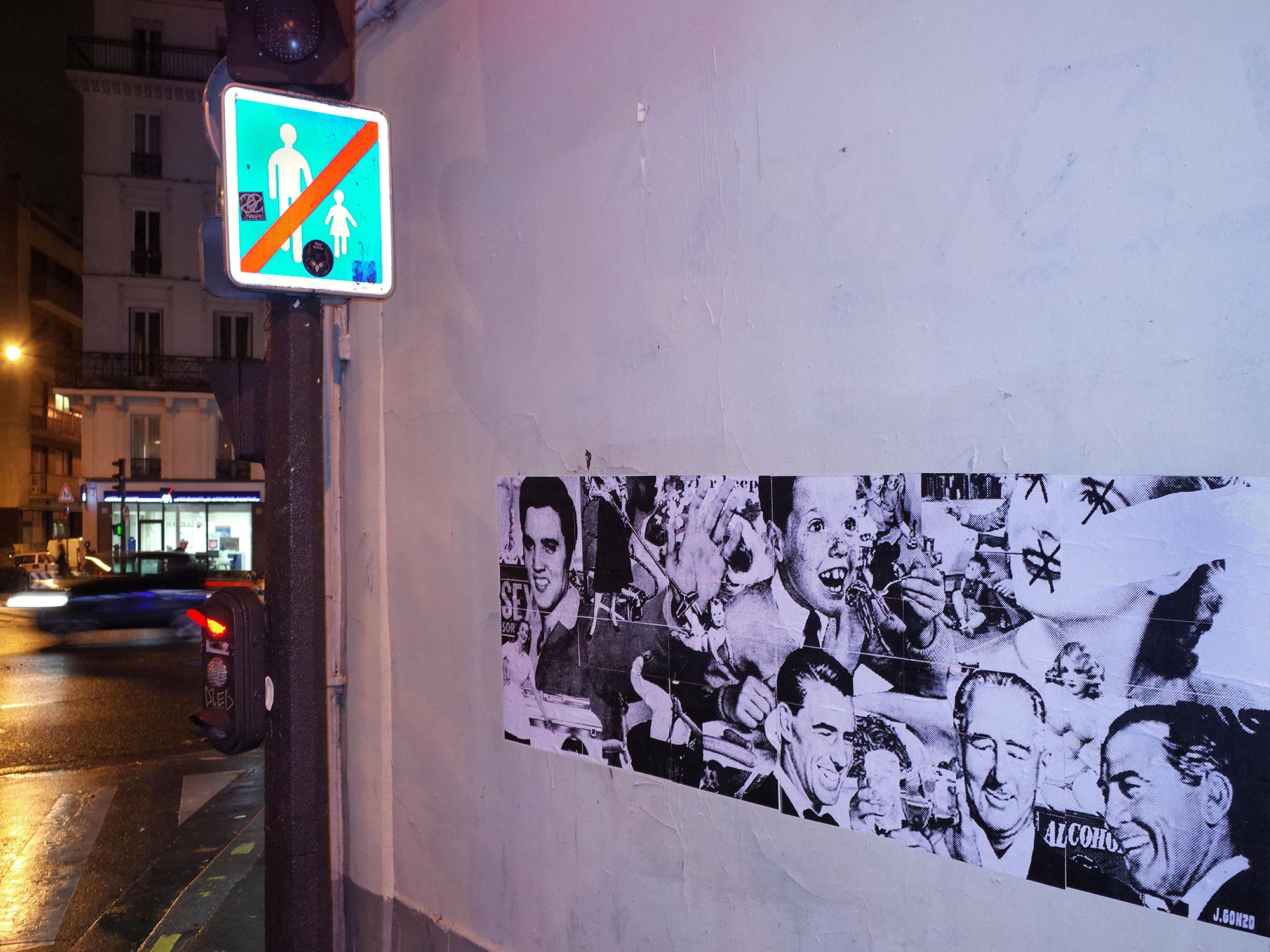 boulets mur affiche 2014