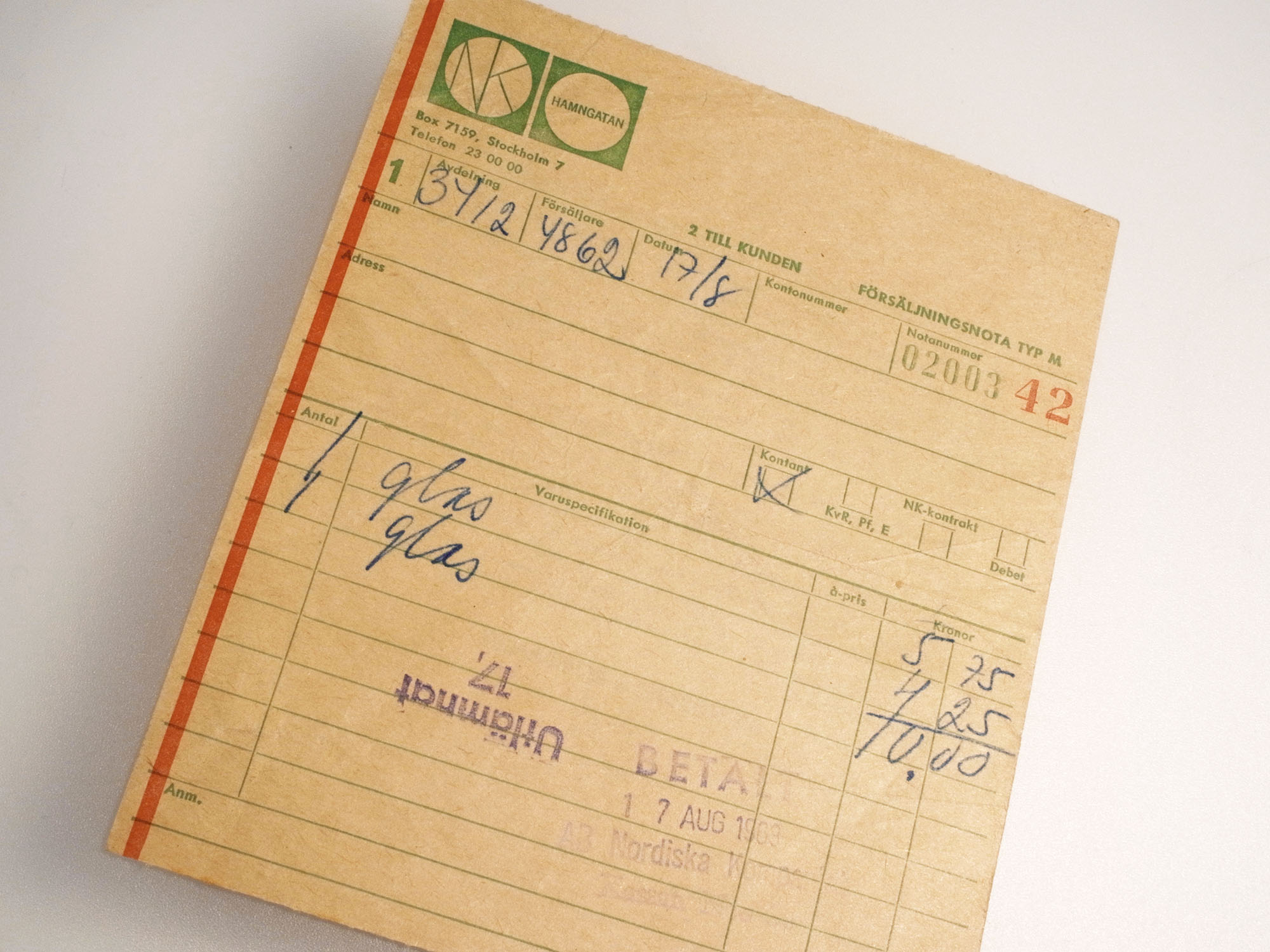 fuga orrefors ticket